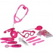 Set jucării pentru copii Doctor, roz, 12 buc.
