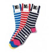 MrD London [3 Packs] Chunky Breton Stripe Socks B19-008