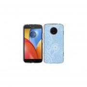 Funda Para Celular Motorola E4 Plus Paisley Azul & Blanco