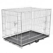Sonata Сгъваема метална кучешка клетка, размер XL