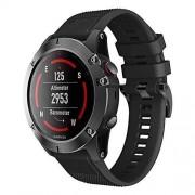 Digit.Tail Correa de repuesto ajustable de silicona QuickFit para Garmin Fenix 6X/Fenix 6X Pro, Fenix 5X/Fenix 5X Plus/3 Zafiro HR, Foretrex 601/701, Quatix 3 Smartwatch (negro)