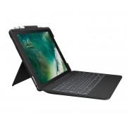 Logitech 920-008445 Slim Combo Smart Connector Tastiera per iPad Pro 10,5'' Nero
