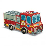 Crocodile Creek Rollin Play Puzzle and Fire Truck, Multi Color (48 Pieces)