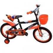 """Bicicleta pentru copii 16"""" cu roti ajutatoare si cos de depozitare din plastic , cadru otel John Speed"""