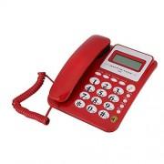 Tangxi Teléfono con Cable,para Familiar/Hotel/Oficina,Telefono Alámbrico,con Altavoz, Marcación Rápida,Suporta FSK/DTMF,Identificador Llamadas(Negro/Rojo/Azul/Blanco)(Rojo)