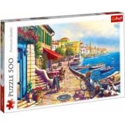Puzzle peisaj cu cladiri malul marii Spania 500 piese
