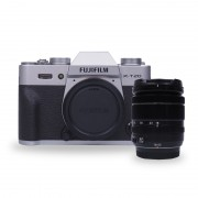 Fujifilm Finepix X-T20 Digital Cameras with 18-55mm f/2.8-4 R LM OIS Lens - Silver