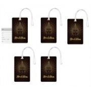 100yellow Luggage Tags- Lord Buddha Face Print High Quality PVC Tag with Silicon Strap- Ideal For Travel-Pack Of 5 Luggage Tag(Multicolor)