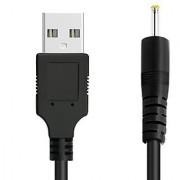 FanTEK 3ft USB to 2.5mm Charging Cable for Dragon Touch Y88X Plus RCA Viking Pro Alldaymall A88X NeuTab K1 AOSON AS751S-B Chromo Inc CI2543 KingPad V10 Simbans Valumax Nabi 2S Tablet (Black)
