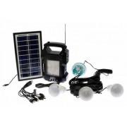 Lanterna cu radio si Mp3 panou solar, 4 becuri GD-Light GD-8050