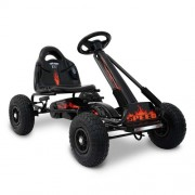 Kids Pedal Powered Racing Go Kart Black