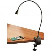 Lunartec LED-Grill-, BBQ- & Arbeits- Schwanenhals-Lampe mit Schraubklemme