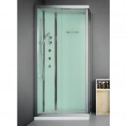 Box doccia idromassaggio rettangolare 90x70 cm Essential bianco
