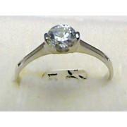 Luxusní zásnubní prstýnek z bílého zlata se zirkonem 585/1,35 gr vel. 57 P388