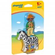 Playmobil 123 - Hombre Con Cebra - 9257