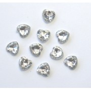 PKT OF 100 MINI DIAMANTIE DECORATIVE HEARTS