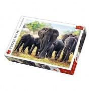 Puzzle Trefl, Elefanti Africani, 1000 piese
