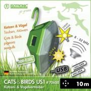 Aparat anti pasari pisici solar cu ultrasunete US1 70600