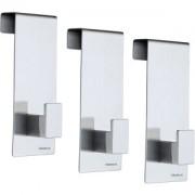 Blomus GmbH Blomus Türhaken 3er-Set, Ein einfacher Helfer zum aufhängen in den Türfalz, Edelstahl matt