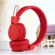 NIA X2 4-in-1 Bluetooth Hands-free Headphone Support Micro SD Player / FM Radio - Red
