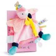 Doudou Et Compagnie Clip para chupeta Tropicool, Flamingo cor-de-rosa DC3280rosa- TAMANHO ÚNICO