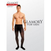 Heltäckande plus size strumpbyxa för män med inbyggd kompression Support 70 från Glamory black XL
