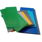 Toy Building Blocks Bag Of 12 Assorted Large Base Plates Tight Fit And Compatible With Lego