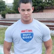 Ruff Riders Interstate Short Sleeved T Shirt Light Grey Heather