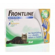 Frontline 3+1 pipet kat bestrijding vlo en teek 4st