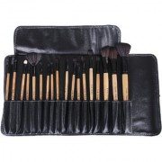 Looks United Cosmetic Makeup Brush Set With Leather Pouch (Pack of 18)