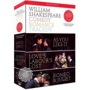 Video Delta William Shakespeare - Comedy - Romance - Tragedy - DVD