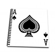 """3dRose db_76552_3 Ace of Spades Playing Card-Black Spade Suit-Gifts for Cards Game Players of Poker Bridge Games-Mini Notepad, 4 by 4"""""""