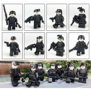 8 piezas Equipo SWAT Bloque de construcción