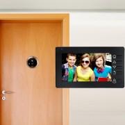 M4300D 4,3 pouces TFT écran couleur 3.0MP caméra de sécurité vidéo intelligente sonnette, carte de TF de soutien (32 Go Max) et vision nocturne et détection de mouvement (noir)