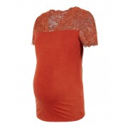 MAMA.LICIOUS Spetsärmad Mamma-t-shirt Kvinna Röd