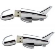 KBR PRODUCT 1+1 COMBO AEROPLANE SHAPE UNIQUE DESIGN USB 2.0 FLASH DRIVE 8 GB Pen Drive(Silver)