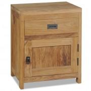 vidaXL Нощно шкафче, тиково дърво масив, 40x30x50 см
