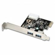 Placa PCI-Express 1.0 adaptor la 2 x USB 3.0 Active pci-e