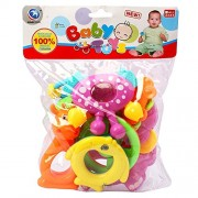 Krishnam Presents New Born Baby Cute & Attractive Dugi Dugi Rattle Set Sweet Cuddle Infant Non Toxic Of JhunJhuna Lovely Mixed Colour Ful For Babies Girl And Boy Unisex Teethers Gift Set Toy With Attractive Figures (8 Pieces, Mix Color)
