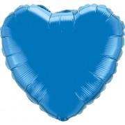 Qualatex Sapphire Blue Foil Heart 18in/45cm