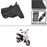 Ronish 100 Waterproof Heavy Quality Bike Body Cover for Standard Size Black for Hero Electric Optima
