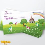 Plic pentru bani cu unicorni şi curcubeu (Model 5)
