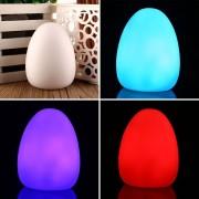 Duola LED de varios colores que cambia de color en forma de huevo colorida decoración de la habitación del bebé luz de la noche