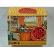 Country Kitchens 500 Piece Jigsaw Puzzle w/Cookie Cutter: Pie Baking Day