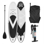 Klarfit Spreestar, fekete-fehér, felfújható paddle board, SUP deszka, 300x10x71cm (FITN2-Spreestar)