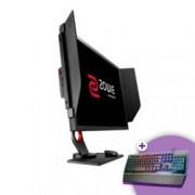 """Монитор BenQ Zowie XL2740 (9H.LGMLB.QBE), 27"""" (68.58 cm) """" Wide TN LED, 1920x1080 FullHD, 1ms GTG, 12 000 000:1 (динамичен), 1000:1, 320 cd/m2, VGA, USB, HDMI. DP, DVI, Gray"""