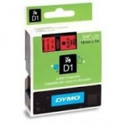 Dymo D1 Label Cassette 19mmx7m (SD45807) - Black on Red