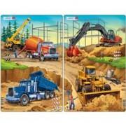 Set 2 Puzzle-Uri Santier De Constructii, 20 Piese Larsen