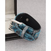 Dare by Voylla Buckled Snake Skin Pattern Bracelet from Leather Trend Collection