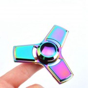 Rainbow Tri-Fidget Hand Finger Spinner ADHD Focus Toy For Kids Adults Autism Anti Stress GyroToys A2
